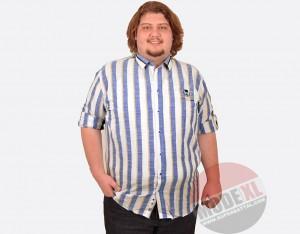 Büyük Beden Erkek Keten Gömlek