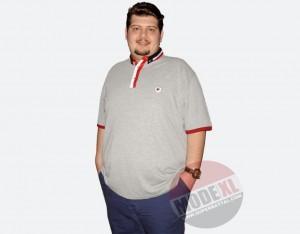 büyük beden erkek polo gri tshirt