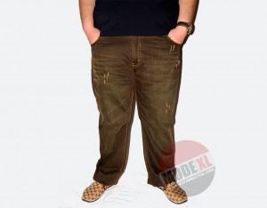 büyük beden erkek pantolon yıpratılmış, renkli yıkama