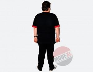 büyük beden erkek eşofman takımı siyah kırmızı