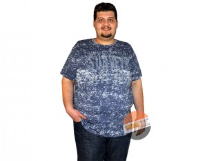 büyük beden erkek tshirt indigo