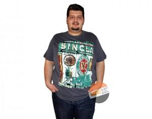 büyük beden erkek baskılı tshirt